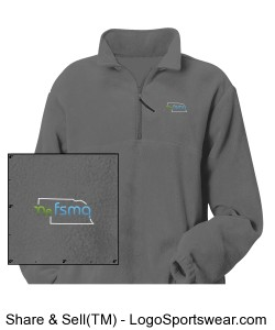 Men's Polar Fleece 1/4 Zip Pullover Design Zoom